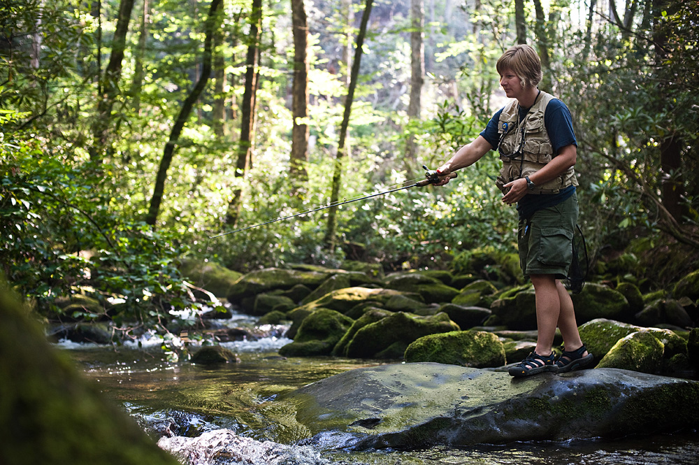 Fishing in Joyce Kilmer-Slickrock Wilderness in Graham County
