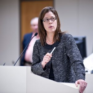 Asheville Vice Mayor Esther Manheimer made a presentation in 2012 to legislators studying the city's water system. Lissa Gotwals/Carolina Public Press file photo