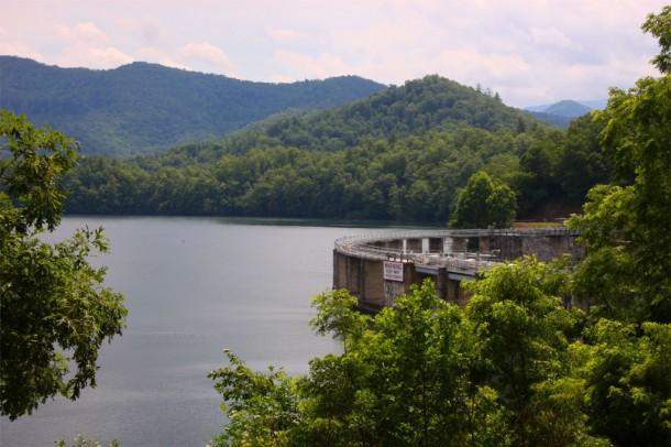 Lake Santeetlah Dam The Dam at Lake Santeetlah