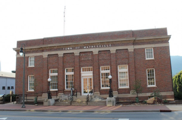 The Waynesville Municipal Building, pictured in June 2012. Katie Bailey/Carolina Public Press
