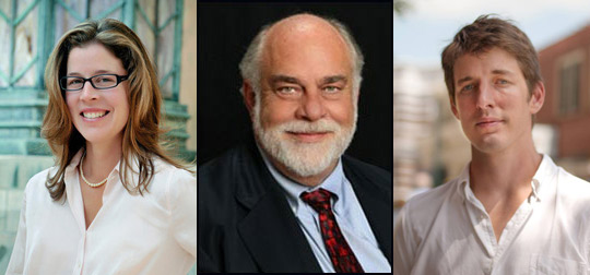 (Left to right) Esther Manheimer, John Miall and Martin Ramsey are candidates to be Asheville's next mayor.