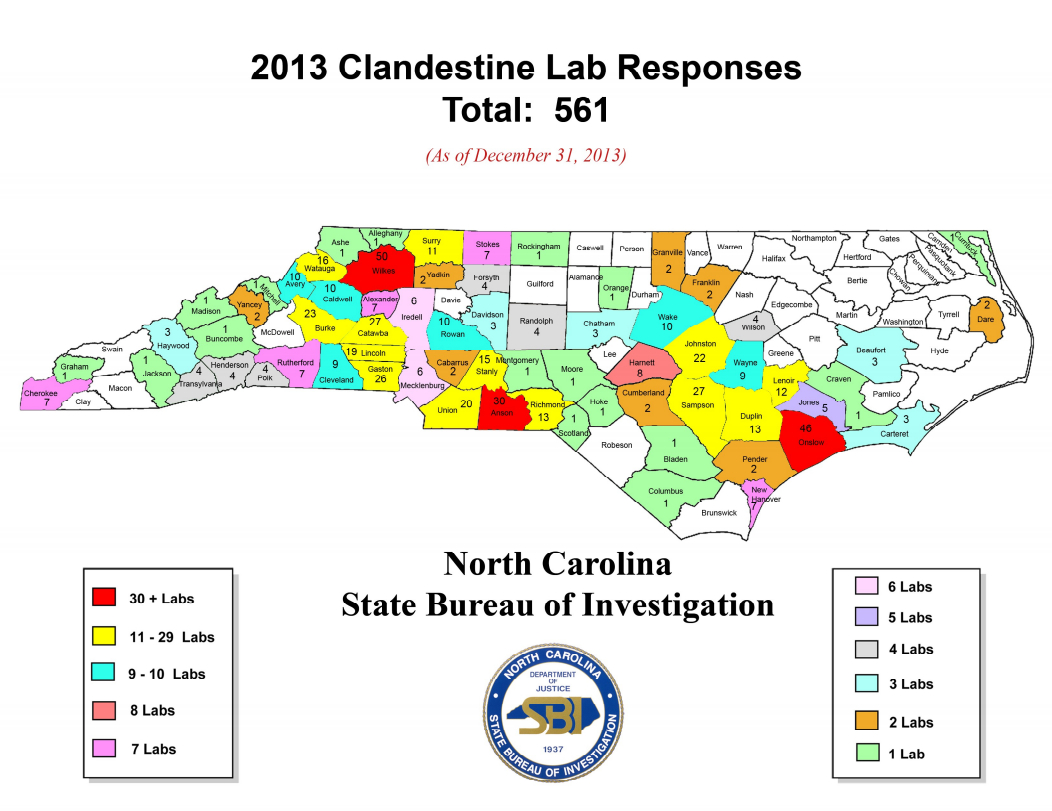 NC sets record for meth lab busts in 2013, with slight uptick in WNC
