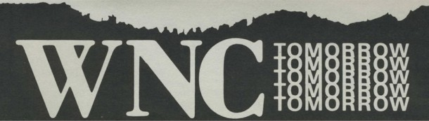 WNC Tomorrow logo. Image courtesy of the D.H. Ramsey Library, Special Collections, University of North Carolina at Asheville.