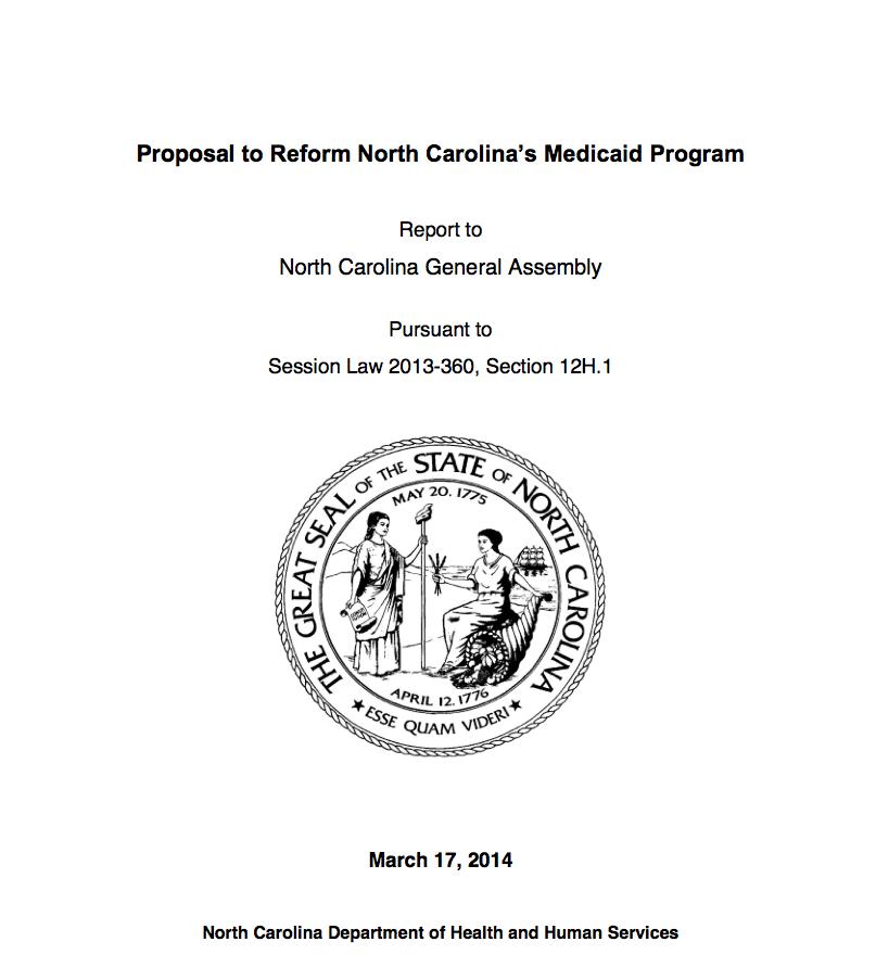 Health Officials Present NC Medicaid Overhaul Plan