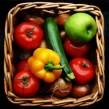 Stock image: Food basket