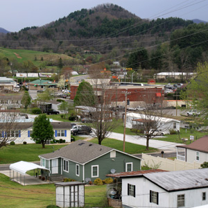 A view of Robbinsville, the home of Stanley Furniture, Graham County's largest employer, last April. Gwen Albers/Carolina Public Press