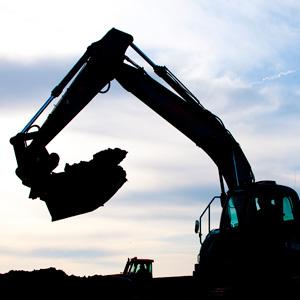 Stock construction digger
