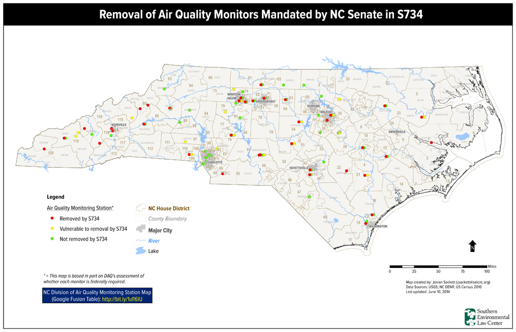 Map via the Southern Environmental Law Center. Click to view full-size image.