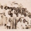 A photo, thought to have been taken in the 1940s, of children who attended the Mars Hill Anderson Rosenwald School.  Photo courtesy of Mars Hill University