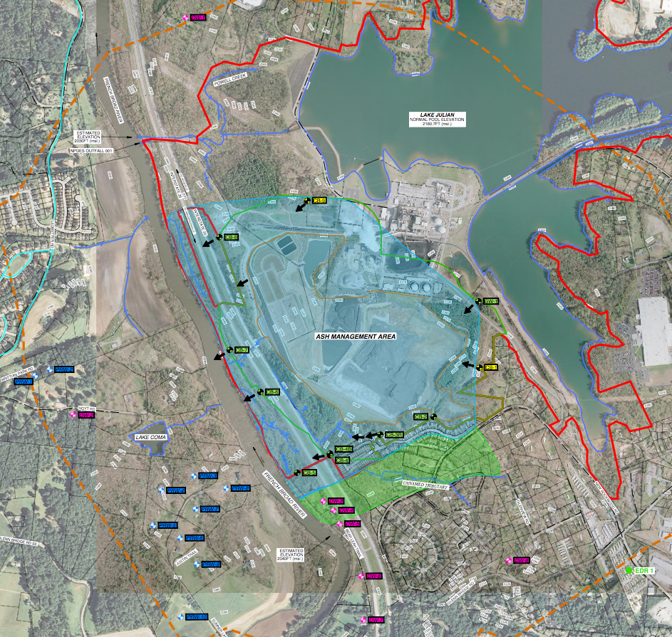 Drinking water supplies located near nc coal ash ponds for Pond supplies near me