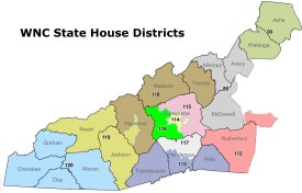 WNC's State House Districts