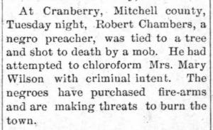 Goldsboro Headlight April 30 1896