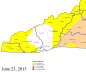 Drought map courtesy of the N.C. Department of Environment and Natural Resources. Click for full-size image for all of North Carolina.