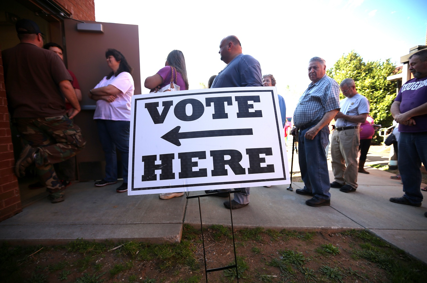 Voting can sometimes mean long waits in line