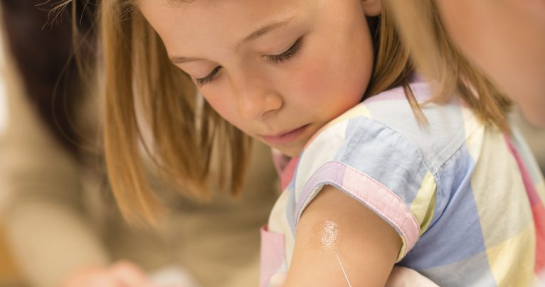 Child vaccination pediatrician apply injection
