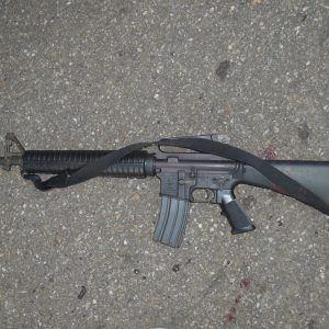 Police said they retrieved this Bushmaster rifle from near the car where Jai Williams died. Courtesy of the Buncombe County District Attorney's Office.