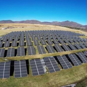 Solar farm near Canton, NC