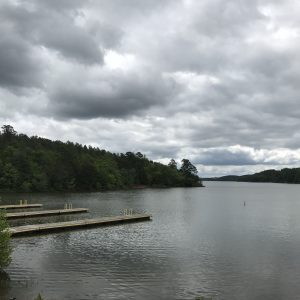 Lake Rhodhiss in Burke County.