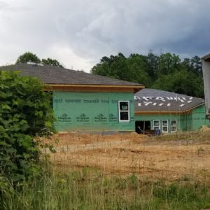 Meridian adult care home under construction in Bryson City.
