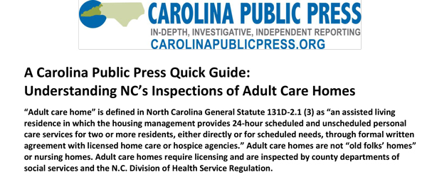 Here's a CPP quick guide to understanding NC adult care home inspections