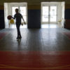 Resident of Falcon Children's Home plays basketball on July 6, 2018.
