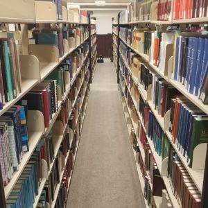 UNC-Asheville library shelves