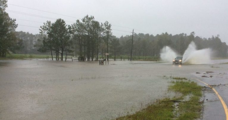 Flooding in Brunswick County, Sept. 15, 2018.