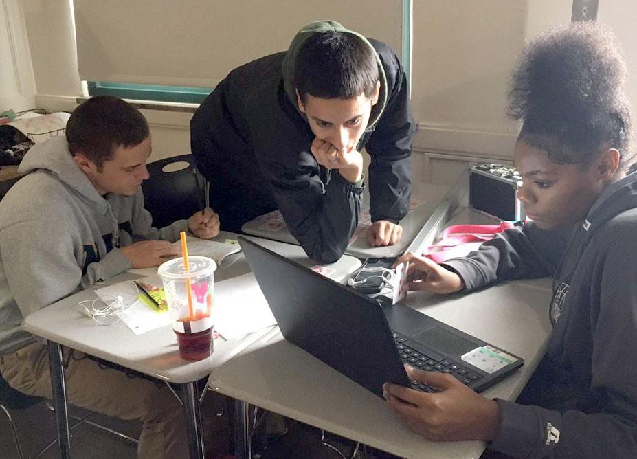 Asheville High School literature class