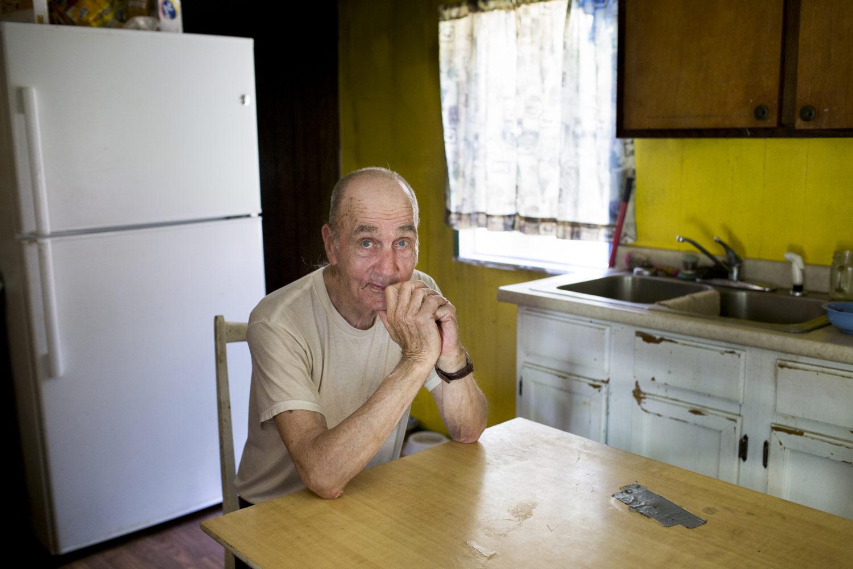 Paul Crisp of Whittier in his kitchen