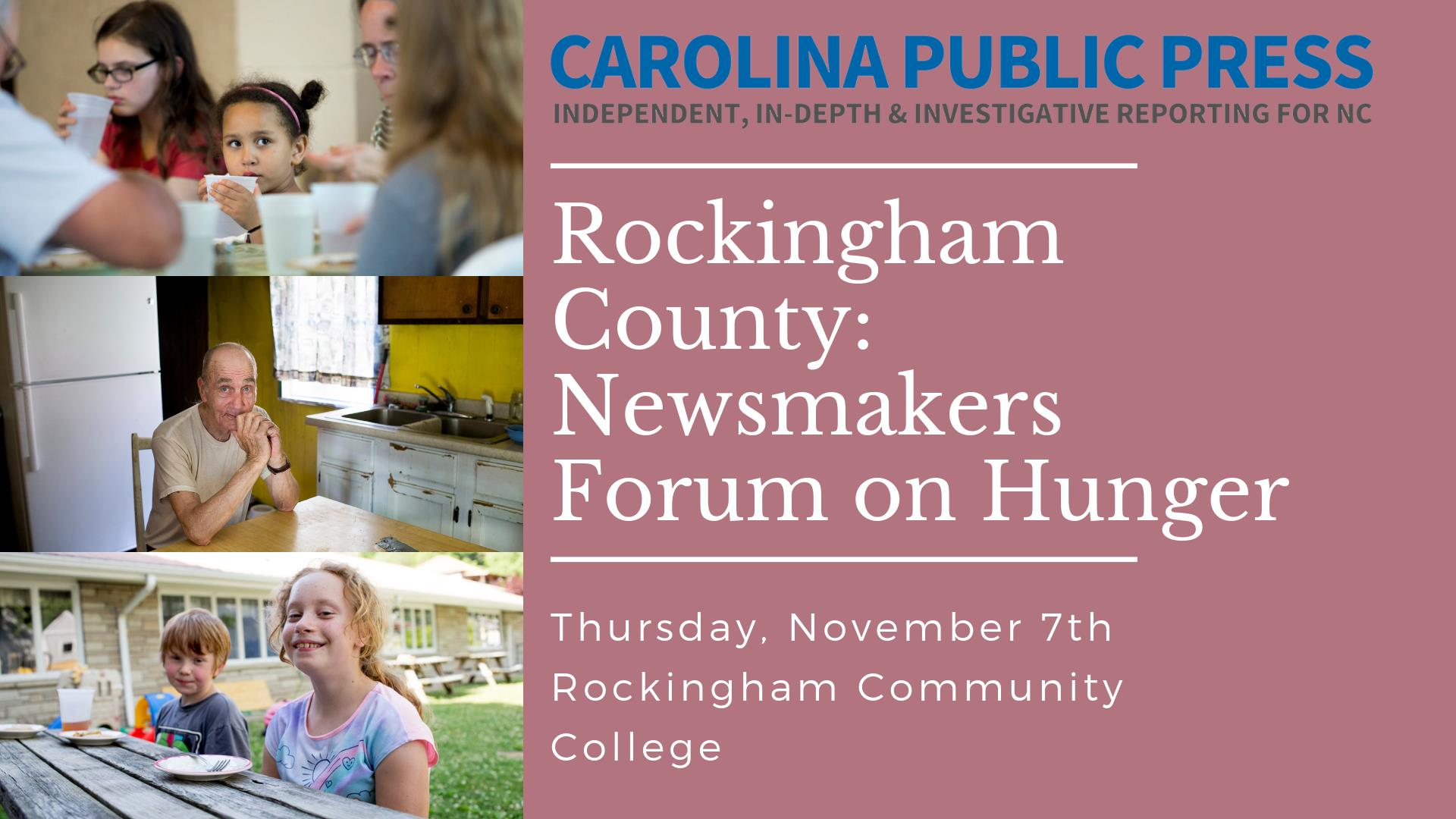 Hunger and food insecurity forum in Rockingham County