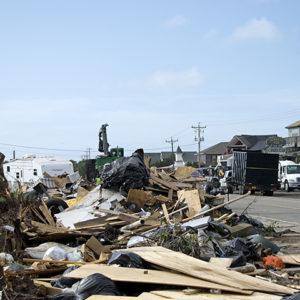 Dorian disaster debris Ocracoke