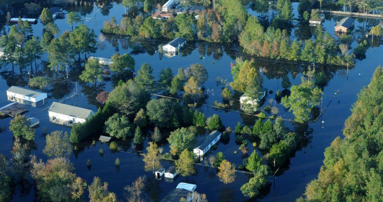 Flood in Craven County following Hurricane Matthew in 2016.