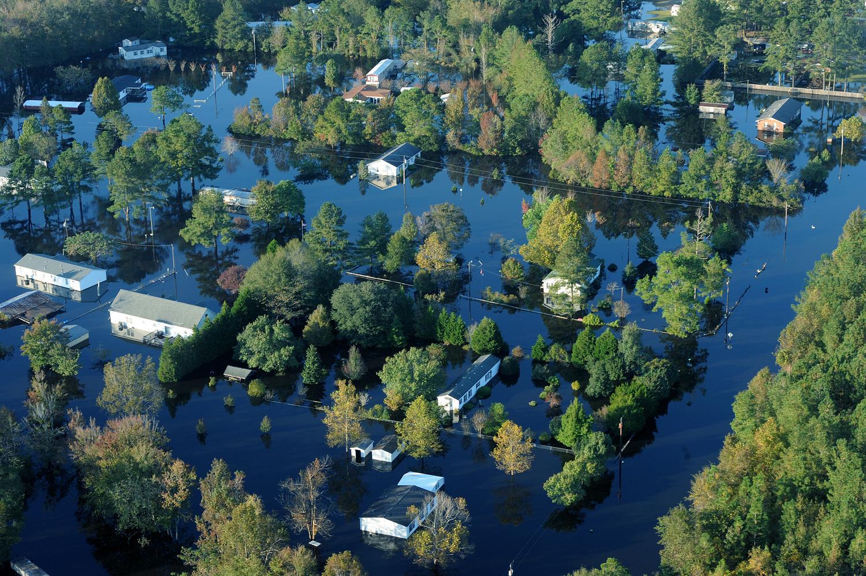 Flooding in Craven County following Hurricane Matthew in 2016.