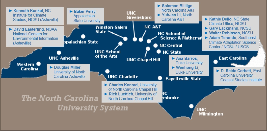 NCICS map of contributors to Jan. 22, 2020, climate report.