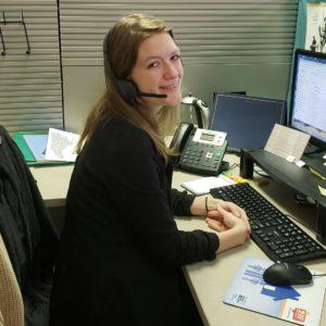 Natalie Sprague, NCCARE360 navigator at United Way of North Carolina office in Durham.