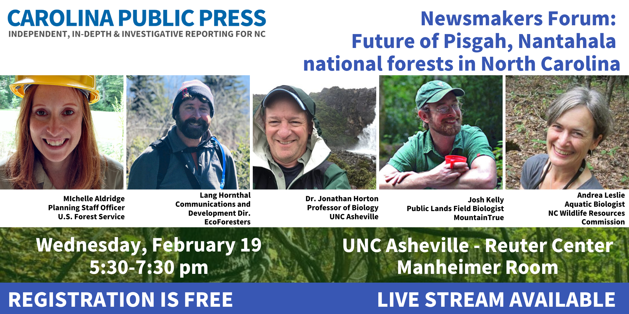 forum on the future of the Pisgah and Nantahala national forests