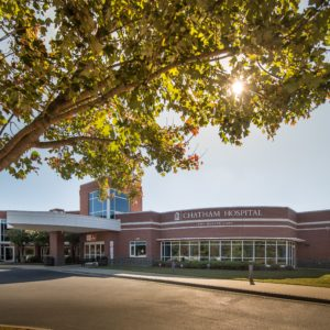 Chatham Hospital in Siler City, like other small-town hospitals across North Carolina, faces challenges in preparing for a surge in patients as coronavirus continues to spread across the state. Photo courtesy of Chatham Hospital