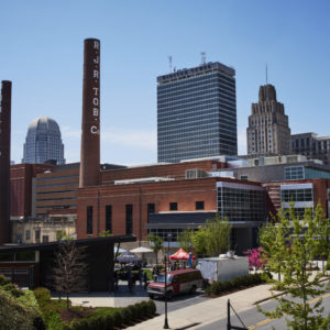 The Kate B. Reynolds Charitable Trust and other funders based in Forsyth County are among the regional charitable groups and foundations heavily investing in coronavirus relief efforts. Seen here, the Winston-Salem skyline. Photo courtesy of the Kate B. Reynolds Charitable Trust