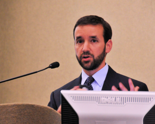 State Epidemiologists Zack Moore warned Monday that the coronavirus pandemic in North Carolina is still accelerating. Moore is seen here at a 2016 event. Photo courtesy of the North Carolina Department of Health and Human Services