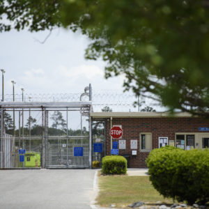 Neuse Correctional Institution in Goldsboro is the site of a major outbreak of COVID-19. A coalition of news media organizations including Carolina Public Press have filed a lawsuit seeking state records relating to tracking and handling of COVID-19 in the prisons system and elsewhere. Melissa Sue Gerrits / Carolina Public Press